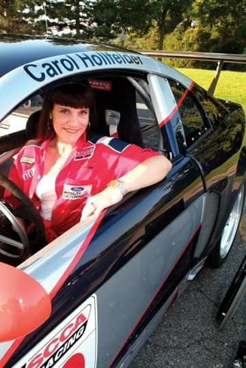 Carol the race car driver